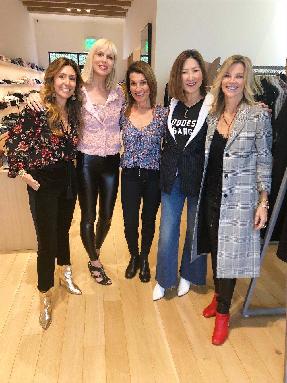 With fellow influencers,    Melissa Meyers   ,    Catherine O'Connell   ,    Clara Lee    and    Janet Gunn     at    Milk Boutique