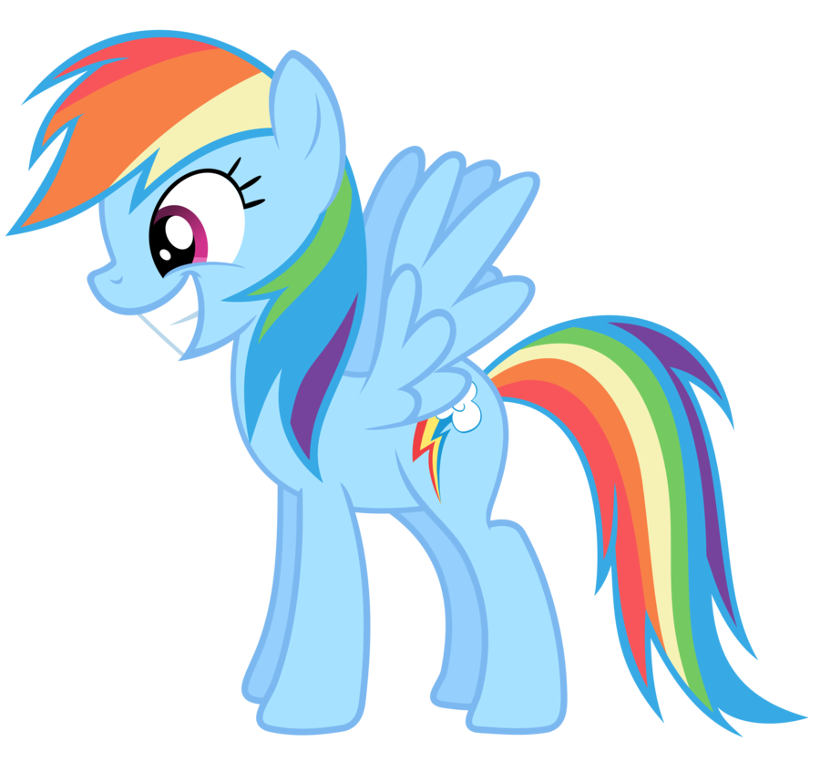 All that money spent on hair dye finally pays off for Rainbow Dash.