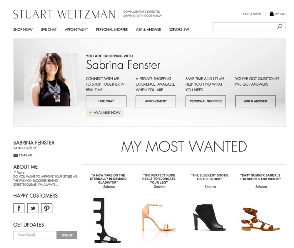 Stuart Weitzman blogger collaboration