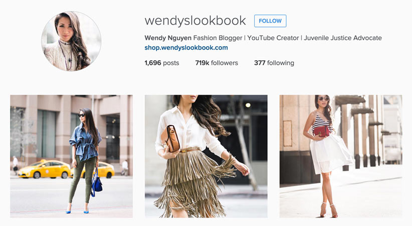 Wendy's LookBook style blogger