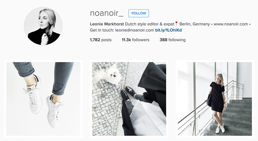 Noa Noir style blogger