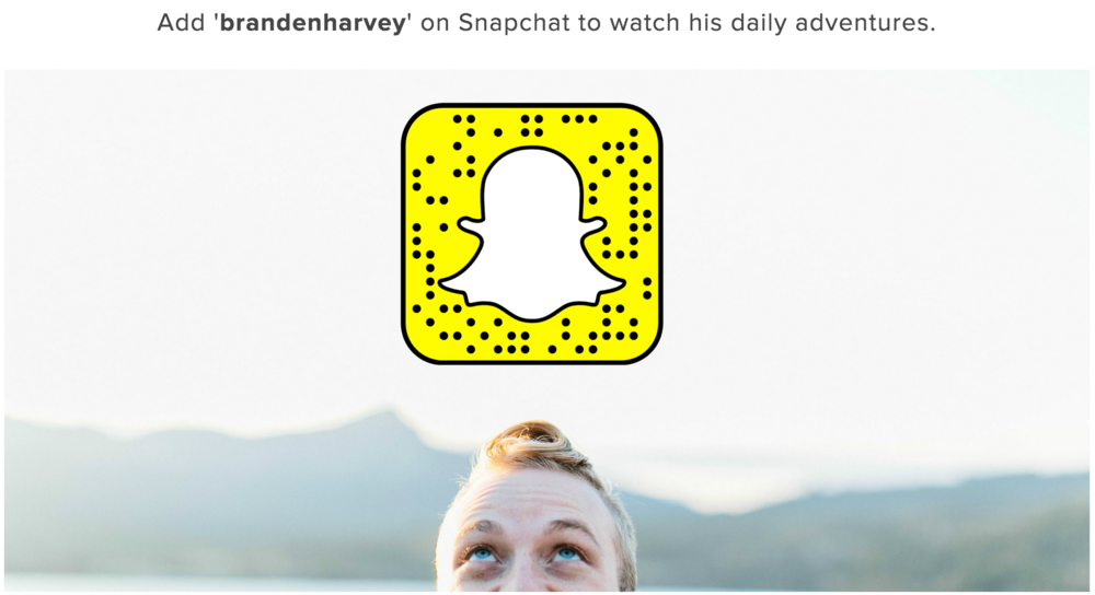 Snapchat influencer, Branden Harvey