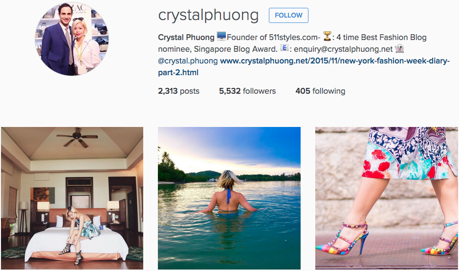 Crystal Phuong Instagram