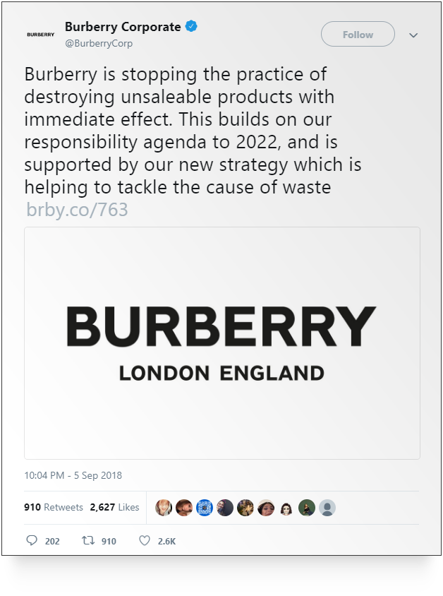 Source: Burberry Corporate on      Twitter