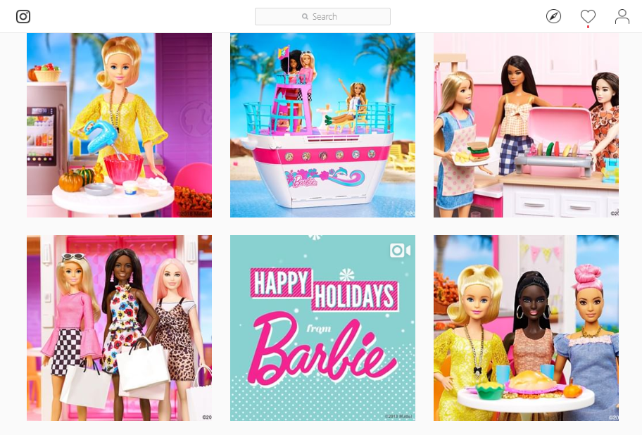 Barbie doll in Barbie doll world social media marketing ideas - The Shelf.png