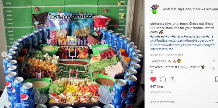 snackstadium from @pinterest_diys_and_more super bowl spending stats.png