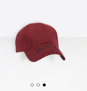 Balenciaga baseball cap The Shelf influencer platform.png