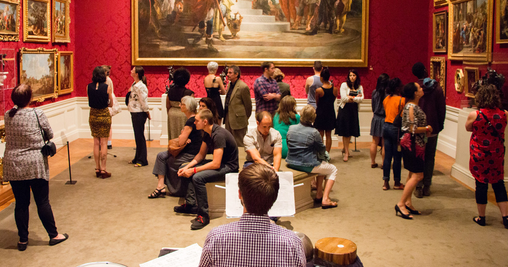 Eric Derr performs in the 18th Century Italian Galleries