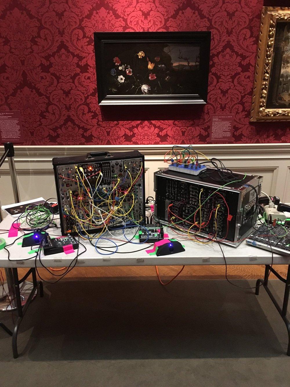 Jimmy Joe Roche's setup in the Renaissance Galleries