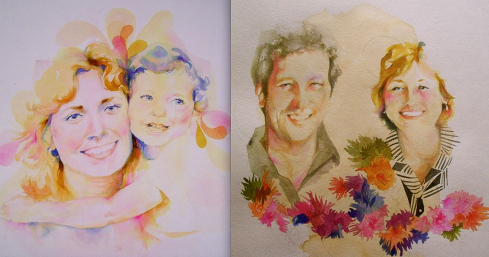Family portrait commission series.