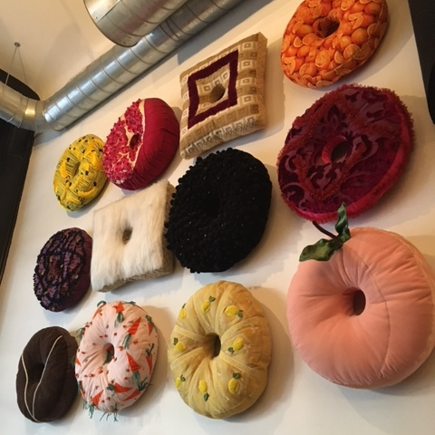 Doughnut artwork at Doughnut Plant in Chelsea.