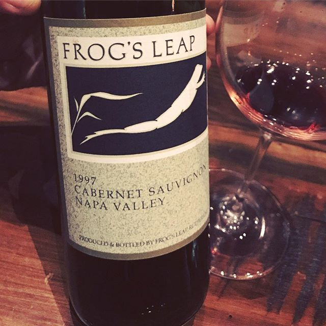 Elevate your holiday gatherings with milestone vintages like this 20-year old beauty from @frogsleap - it's still so vibrant and full of character. 1997 was a year of great quality and quantity for Napa Valley, so if you have a chance to enjoy one from that vintage, go for it!