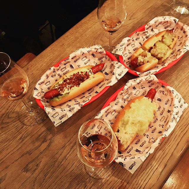 Grower champagne + gourmet hot dogs. Brilliant. Just brilliant.
