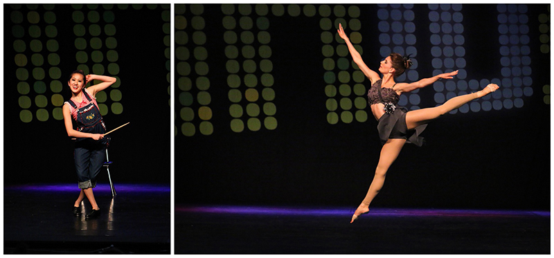 "Left:  Metropolitan Dance Alliance - Senior Tap Small Group ""School's in Session"" Right:  Dancin on Broadway - Senior Contemporary Small Group ""Perfect Stranger"""