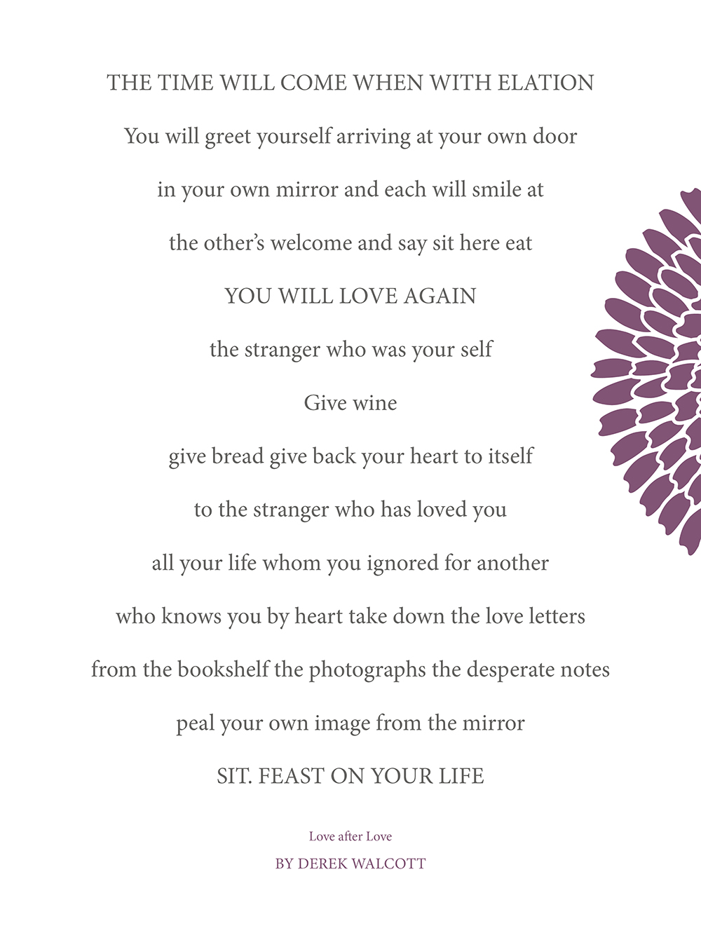 Greet Yourself and Feast on Your Life! — Christie Rachelle