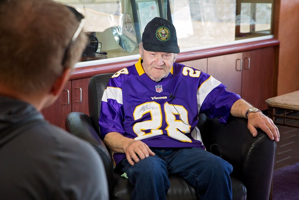 Ford would next be interviewed for the Viking's documentary show - Beyond the Gridiron.  ( Look for video clips on their website when they are posted .)  He spoke of his long standing love of the Vikings, and what a great coach he saw in Bud Grant.