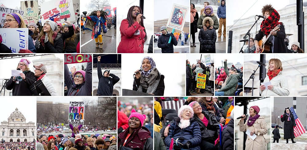 The Womens March of Minnesota Official photographers included Christie Rachelle, Juliann Itter & Angela Whited.