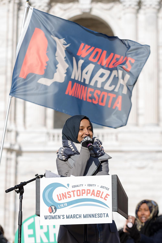 WOMENS MARCH   U.S. REPRESENTATIVE ILHAN OMAR