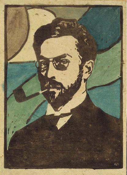 Portrait ofKandinsky by Gabriel Munter
