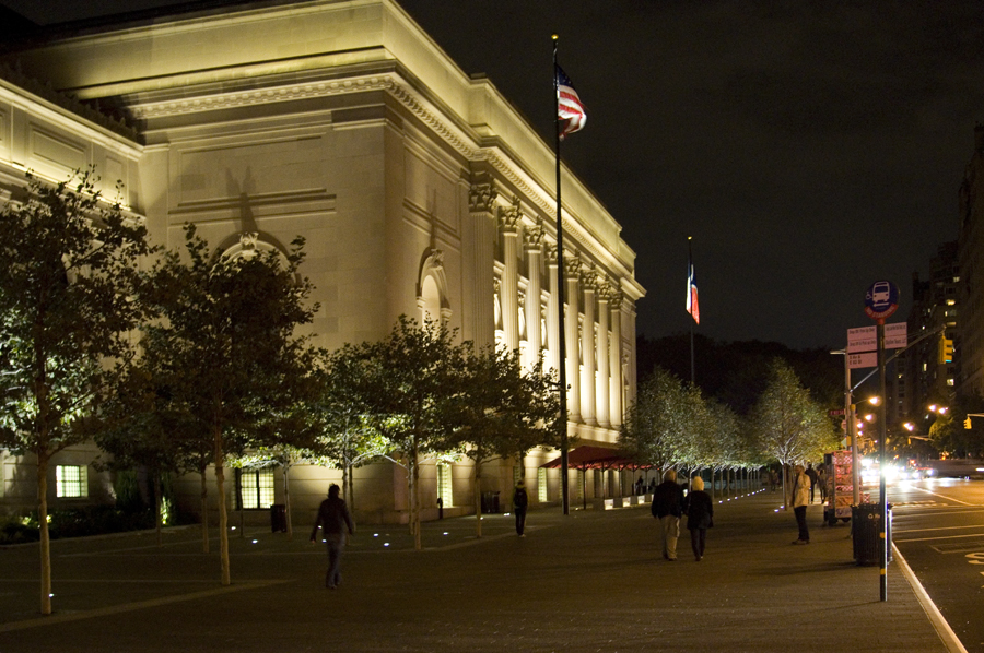 The David H. Koch Plaza on the evening of 10/18/14 photographed by Brett F Harvey