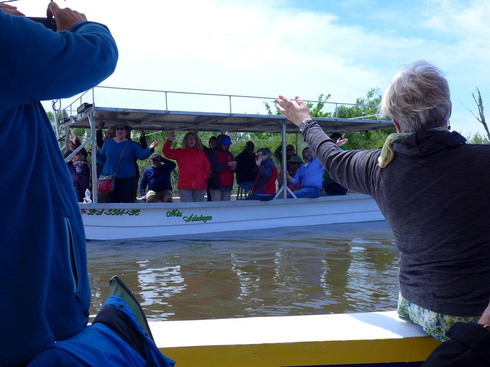 GW Boat ride on the bayou