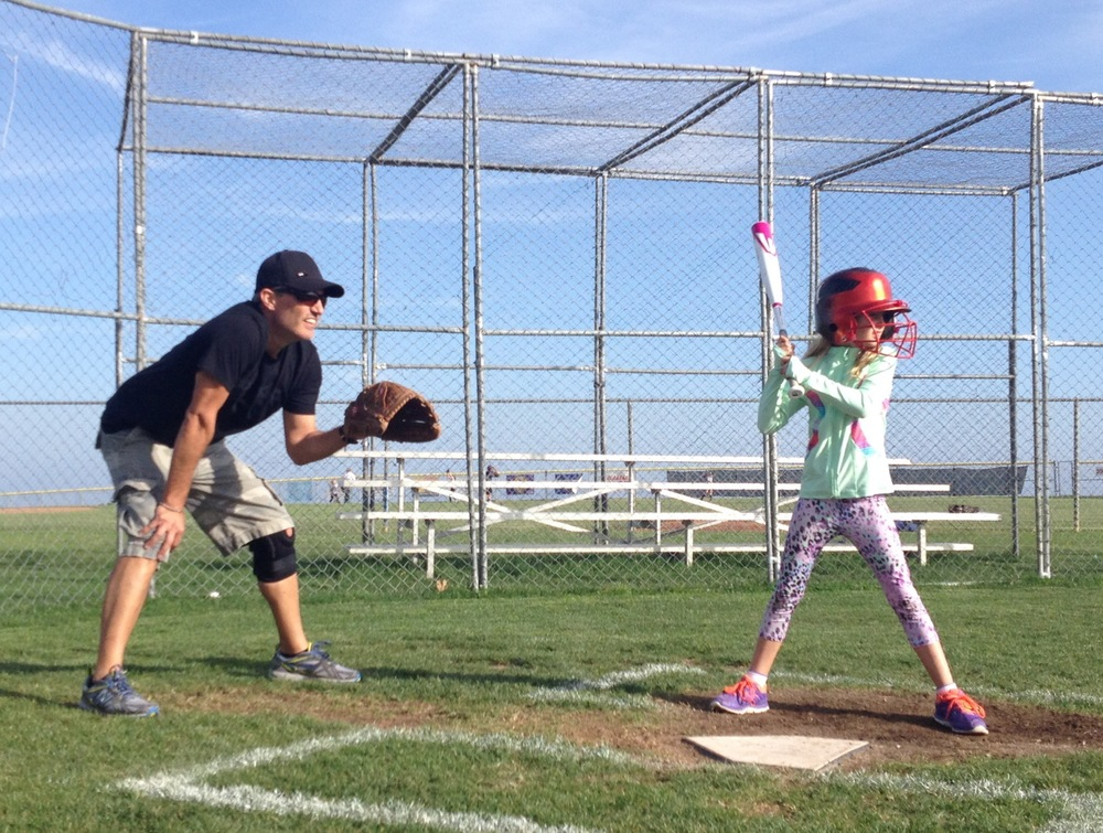 daddy coaching daughter's softball team this spring