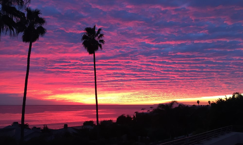 Sunset over the Pacific Ocean and Channel Islands - Malibu, CA