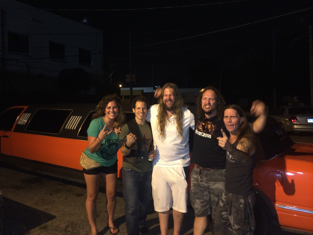 Post-show hanging out with  Lava Moth  in front of limo
