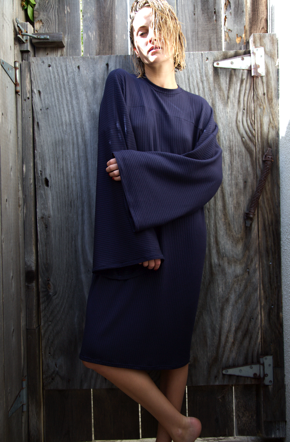 STYLE #0.001  - L/S SHIFT$150 + SHIPPINGCOLOR: STOCK (NAVY)SIZE: O/SFABRIC: HEAVY MODAL SPANDEXSTITCH: 5X3 RIB