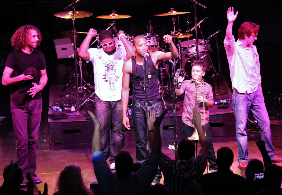 Trombone Shorty @ Wells Fargo Center 09/19/'12(I'm in the front row!)-Photo By Will Bucquoy