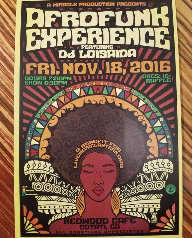 Checkout our annual winter benefit concert at #redwoodcafe in #cotati featuring #afrofunkexperience !  #free #livemusic #nonprofit #community #benefit #supportcommunity