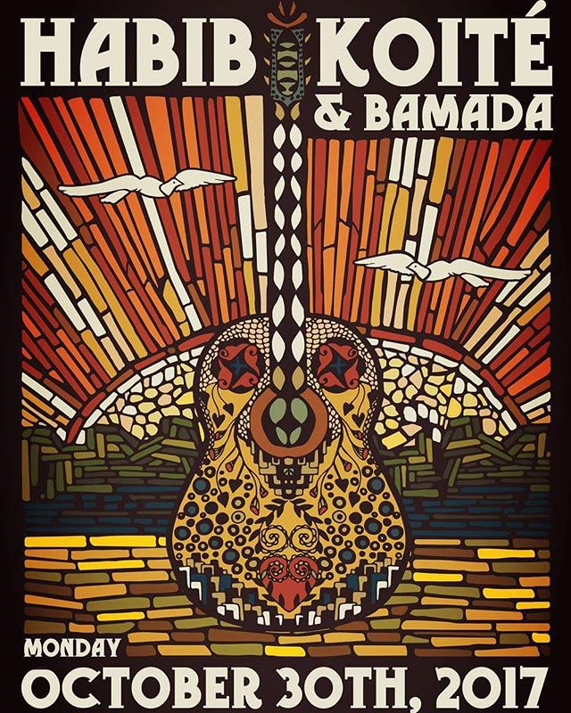 Don't miss #habibkoite and #bamada at the #raven in #healdsburg on october 30th! For tix visit: raventheater.org  #africanmusic #worldmusic #love #light #art #katiekincadedesigns #sonomacounty
