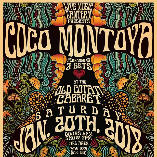 Who's coming out to the old #CotatiCabaret to watch #cocomontoya and support us this Saturday?  #livemusiclantern #musicheals #supportcommunity #nonprofit #sonomacounty #educators #socialworkers