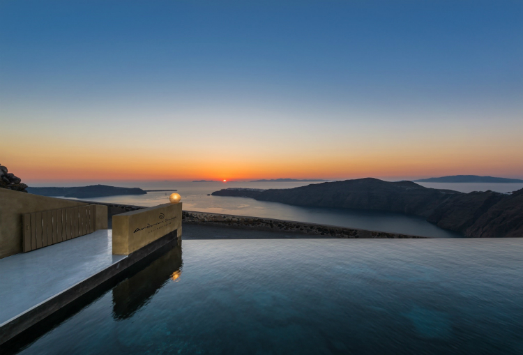 The breathtaking view from Andronis Concept Suites