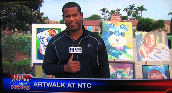 Interviewed LIVE a few days before the Art Walk Event last year on KUSI
