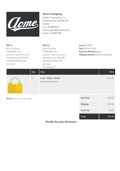Order Printer Templates New Template Designs FORSBERGtwo - Shopify invoice template