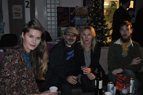 Programme leaders enjoy a glass of christmas cheer