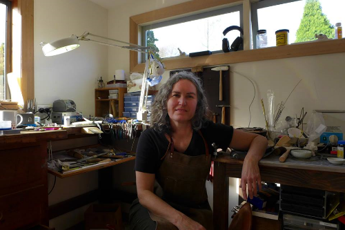 In my studio in Tasmania