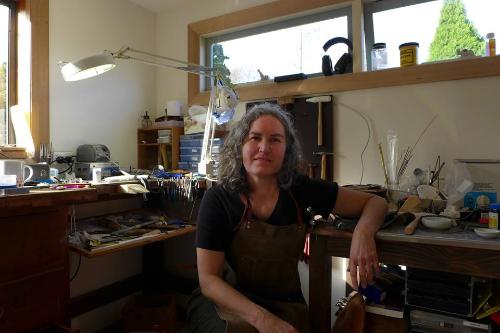 In my studio in Tasmania