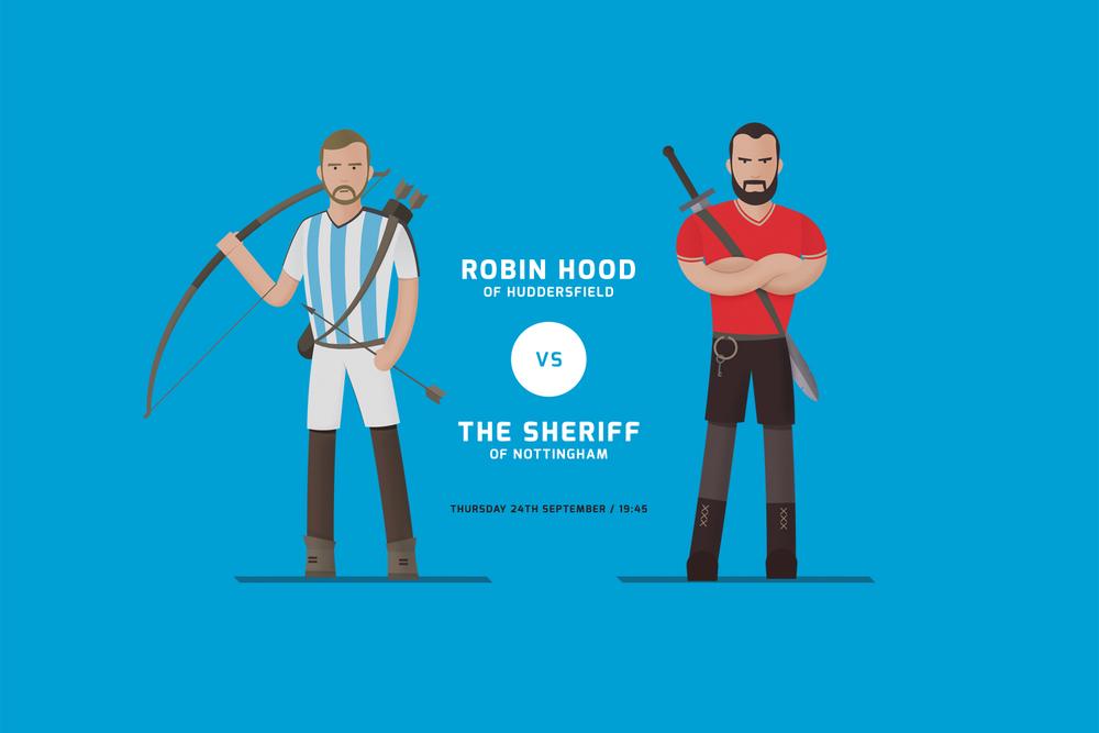 Huddersfield Town Match Poster