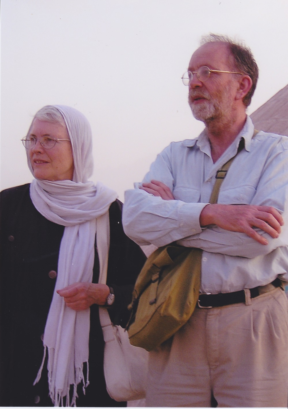 With my husband David in Iran
