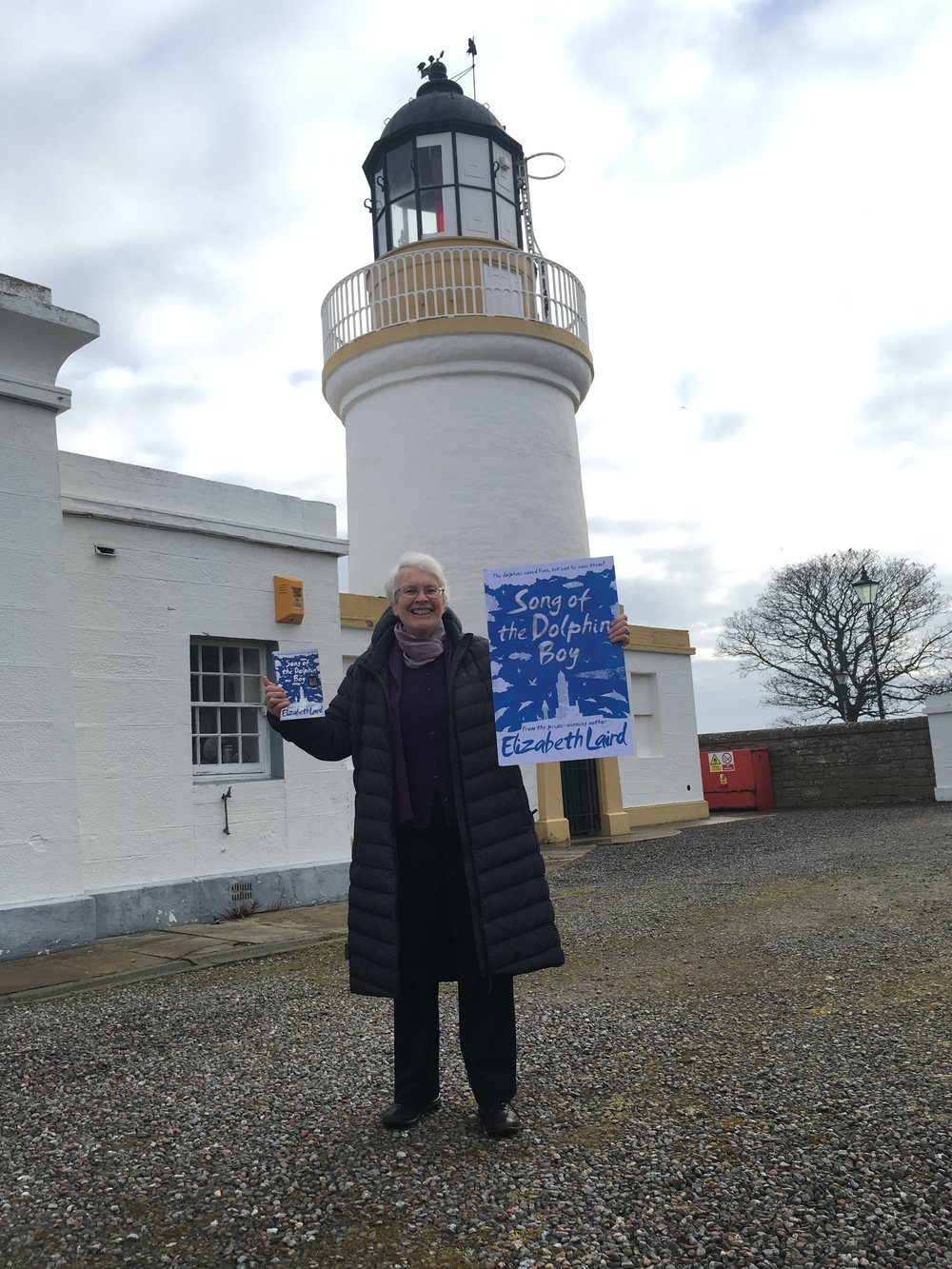 Here I am with my brand new book at the wonderful Cromarty Lighthouse.