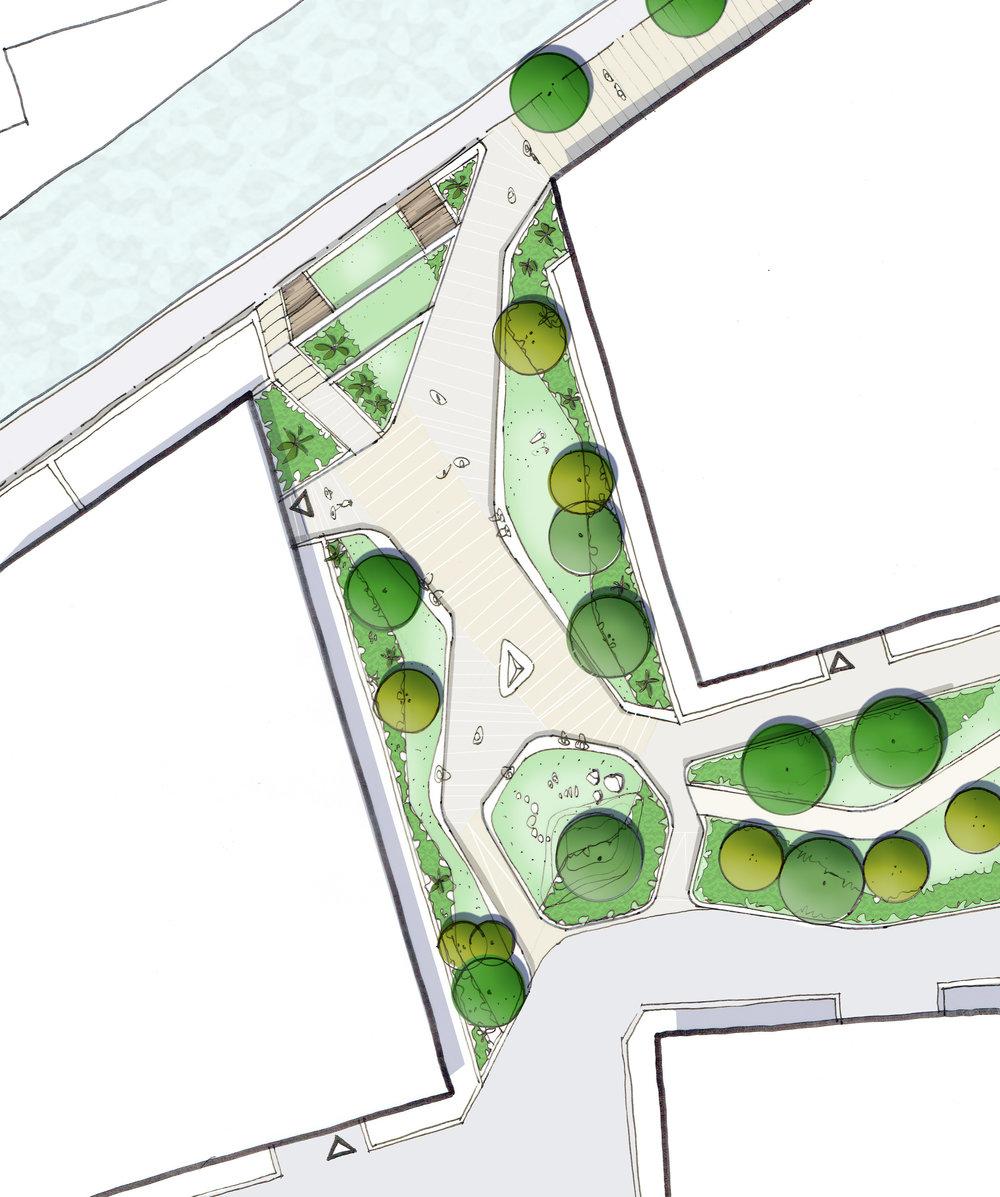Landscape Concept for Waterfront Plaza