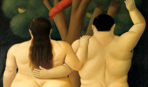 Fernando Botero, Adamo ed Eva, particolare