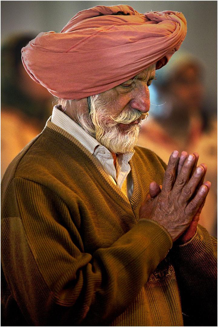 A Sikh Prayer in Dehli