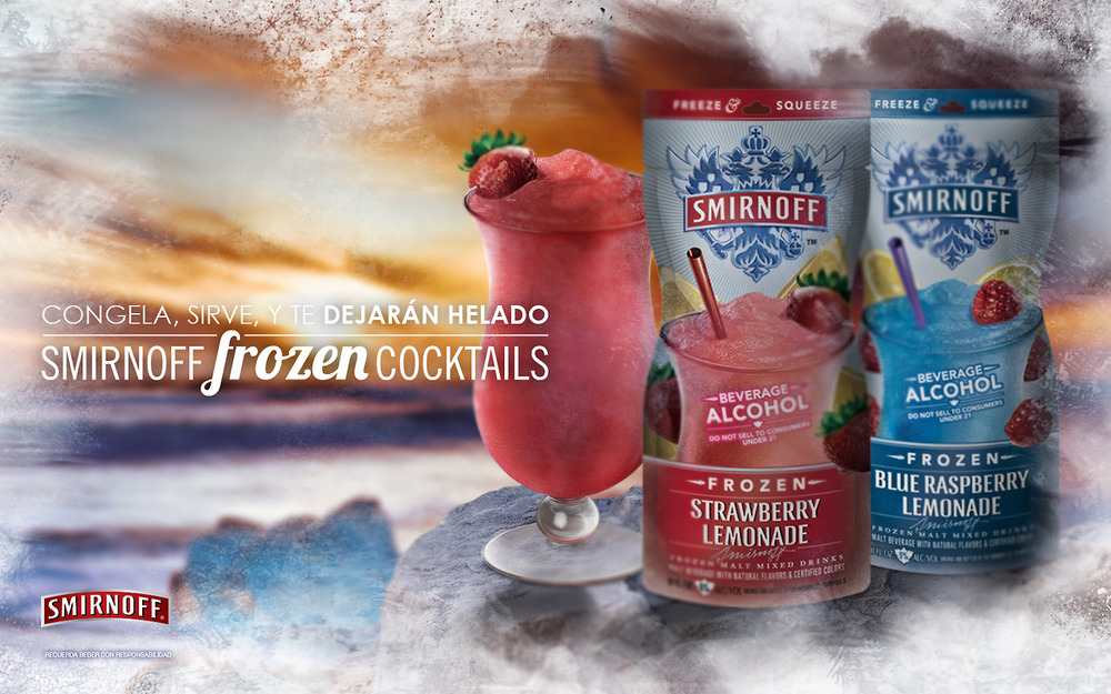 Smirnoff Sorbet frozen alcoholic drinks from Diageo | FoodBev Media