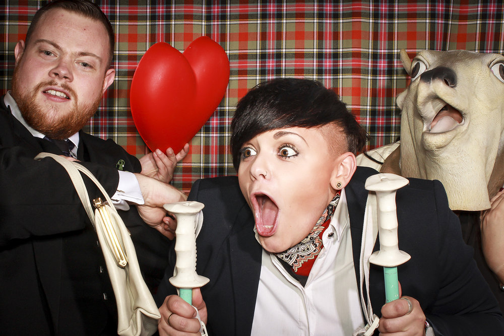 Tartan christmas photobooth