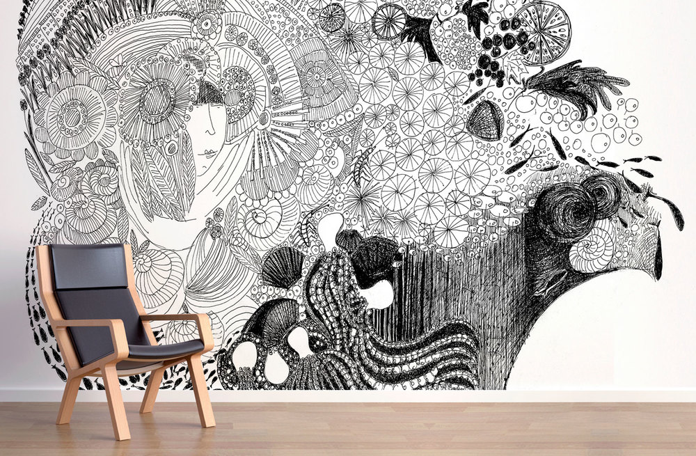 The wallpaper murals are PVC-free and are easy to install and remove.