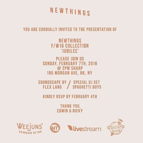 Next Sunday - @newthings.creative is presenting their Fall/Winter 2016 line at @livestreampublic - email rsvp@ilikenewthings.com if you want to attend 👥👖👕 #fashion #ilikenewthings #NYFW #awfashion #mensfashion #weekend #rsvp #nyc #brooklyn #bushwickfashion #brooklynfashion #funtimes #livestream #livestreampublic #livestreamandchill #streaming #watchlive #tech #fashiontech #spaceislimited #dontmiss #menswear