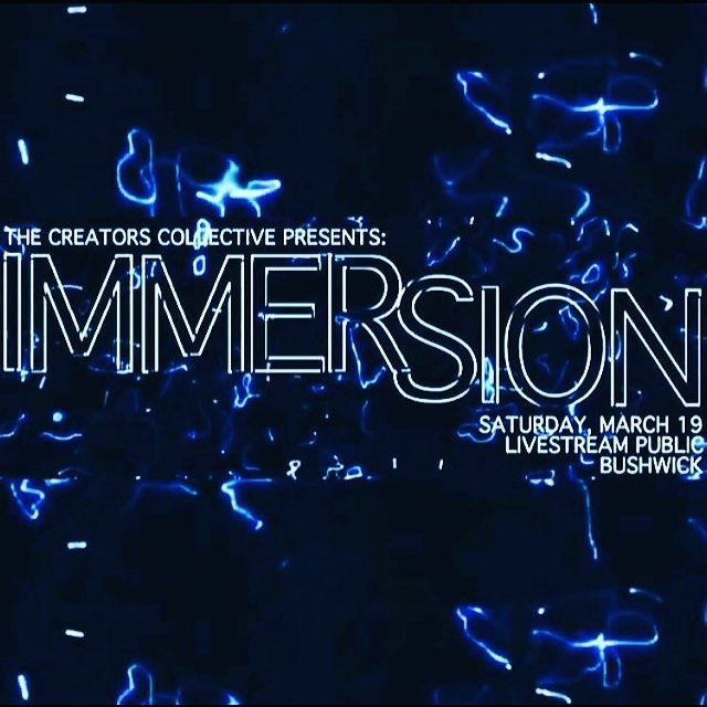 This Saturday is #IMMERSION 🔥 @theartcreators & @livestreampublic present visual art, dance, live music, and video projections from an array of artists #dance #livestreampublic #livestream #artshow #galleryshow #visualart #visager #arty #eastwilliamsburg #fridaynight #contemporaryart #contemporarydance #moderndance #projections #rock #progrock #bushwickmusic #bushwickevents #brooklynartshow #locals #linkinbio #gettickets #wyd